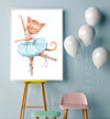girl ballerina painting