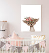 baby deer flower crown nursery decor