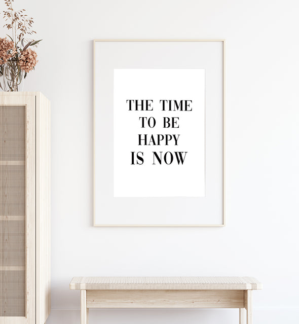 happiness quote print