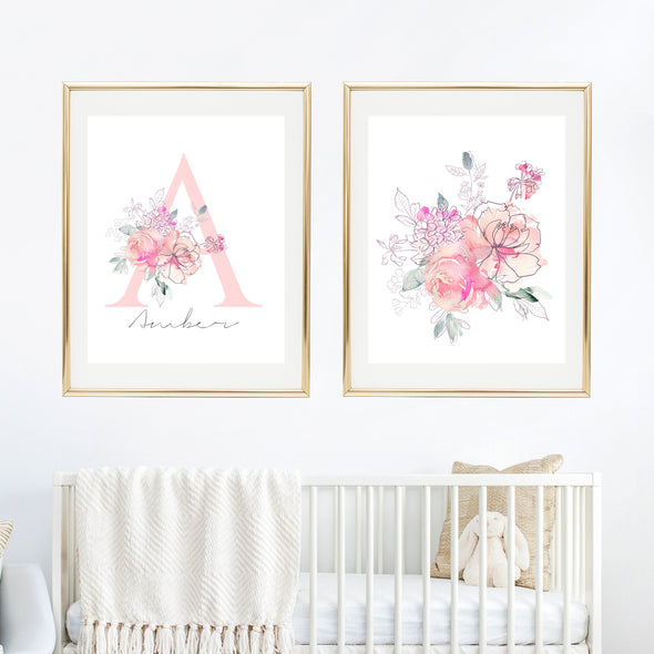 pink nursery wall decor