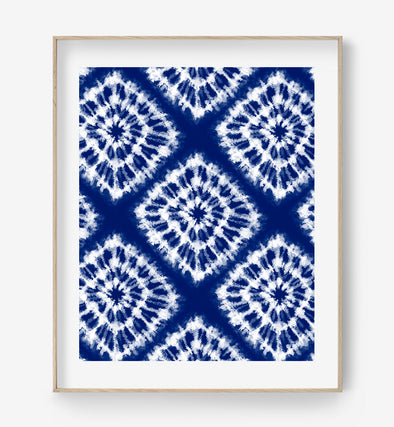 indigo abstract art