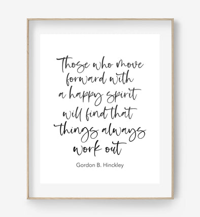 inspirational quote print