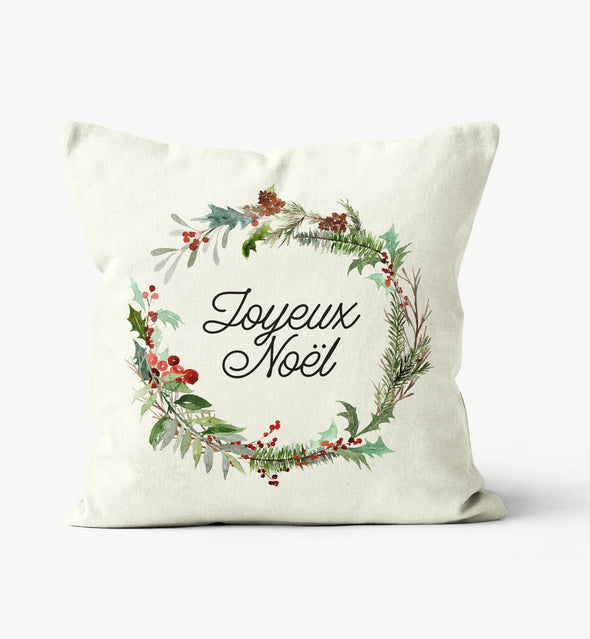 joyeux noel pillow cover