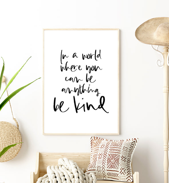 kind quote print