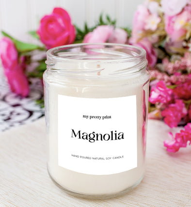 magnolia soy candle