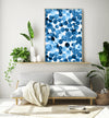 navy abstract painting