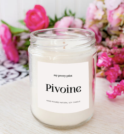 peonies soy candle