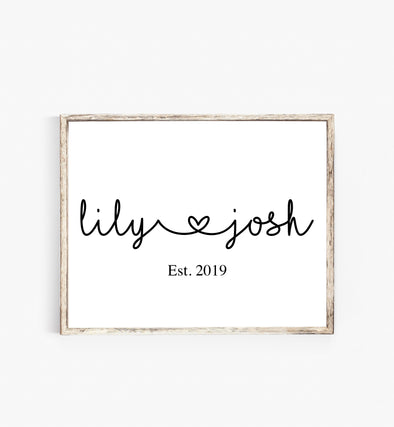 personalized couple wall art