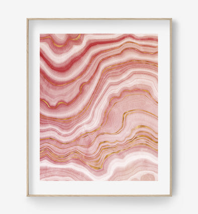 pink agate poster