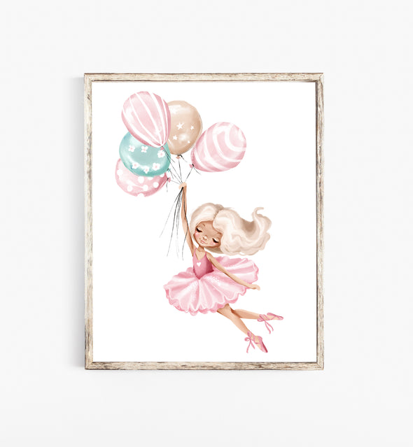 pink ballerina nursery decor
