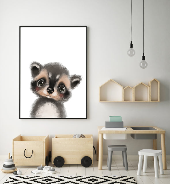 raccoon nursery decor