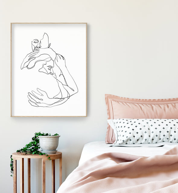 romantic wall print