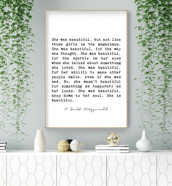 she was beautiful fitzgerald quote
