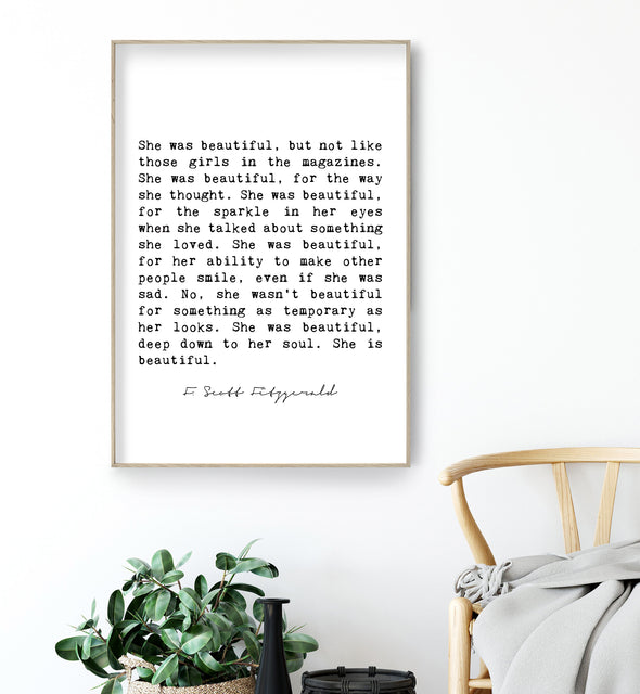she was beautiful fitzgerald print