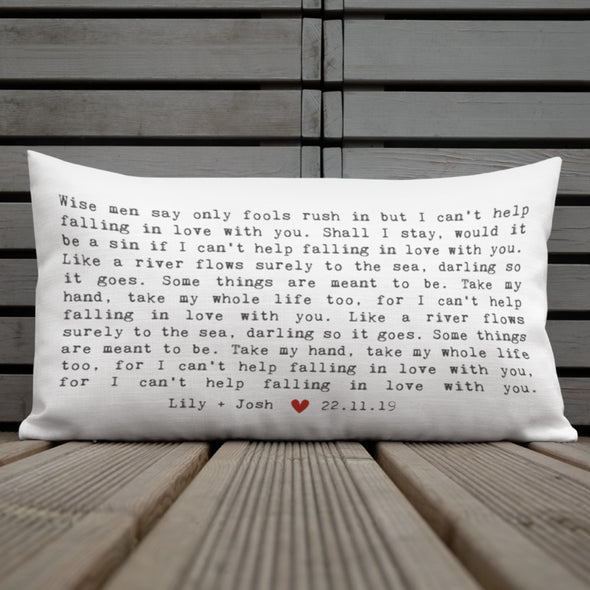 wedding song pillow