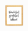 thankful grateful blessed wall decor