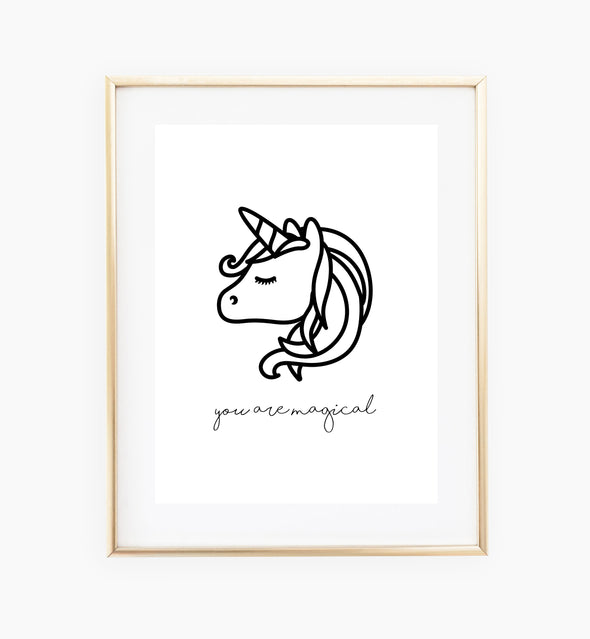 unicorn nursery print