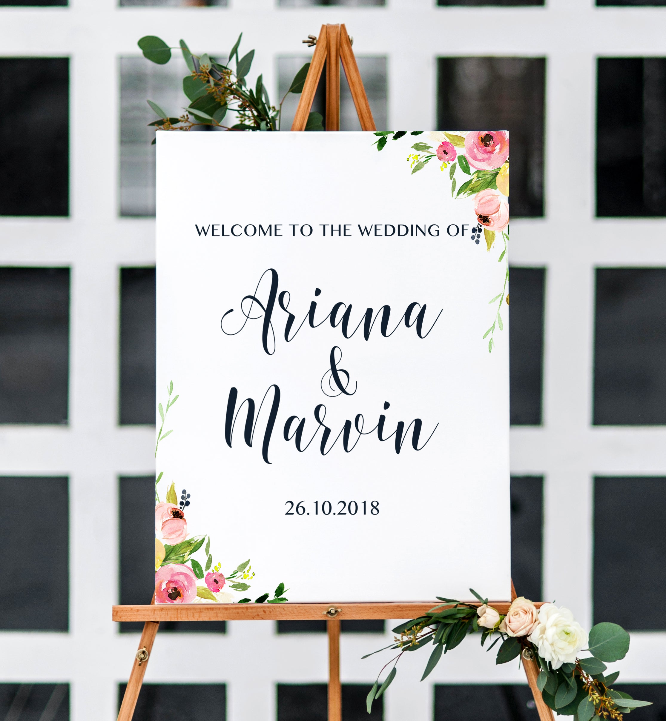 Wedding Welcome Sign.Wedding Welcome Sign