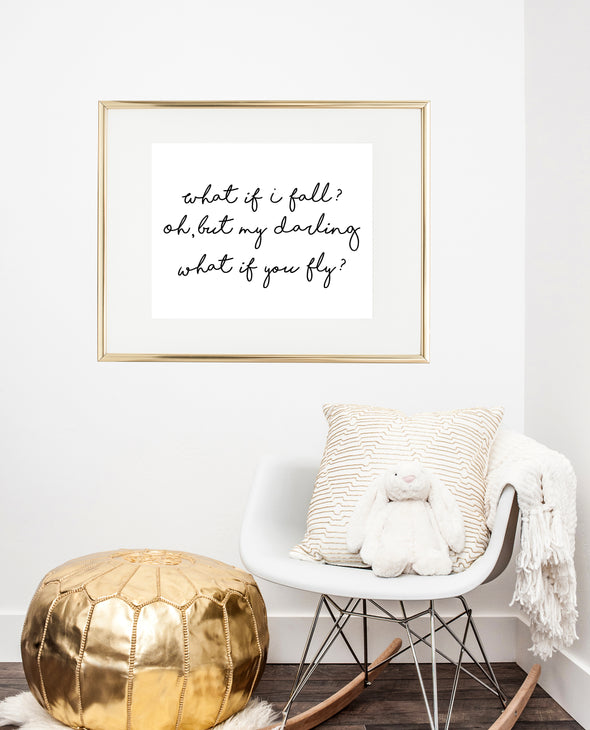 what if i fall wall art