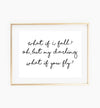 what if i fall oh but my darling what if you fly poster