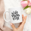 wife mom boss cup