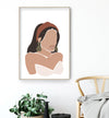 woman portrait print