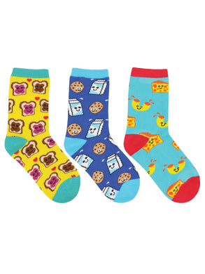 Kid's BFF (Best Foods Forever) 3-Pack Socks
