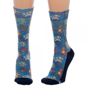 Pokemon Floral Jrs. Sublimated Crew Socks