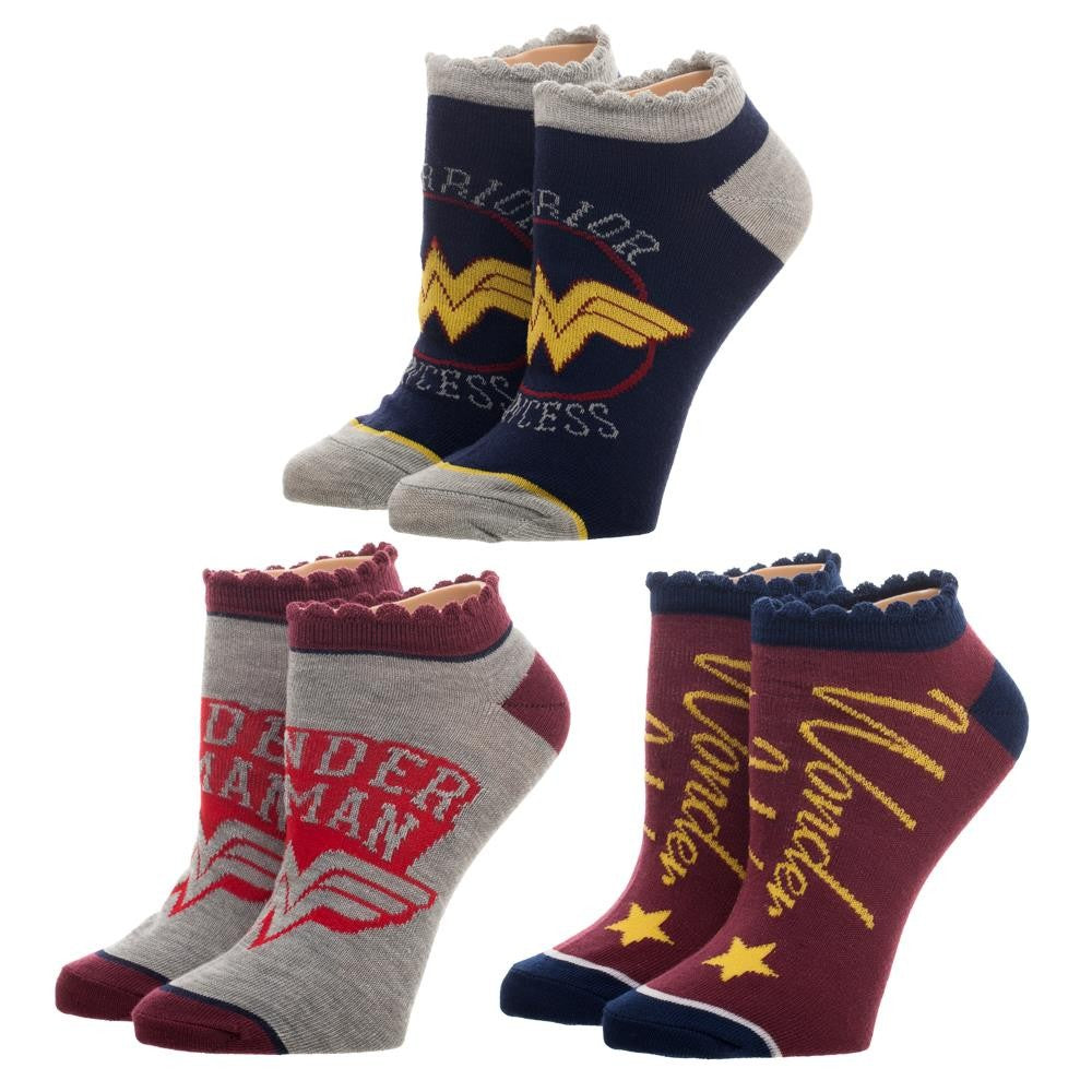 Wonder Woman 3 Pair Ankle Socks