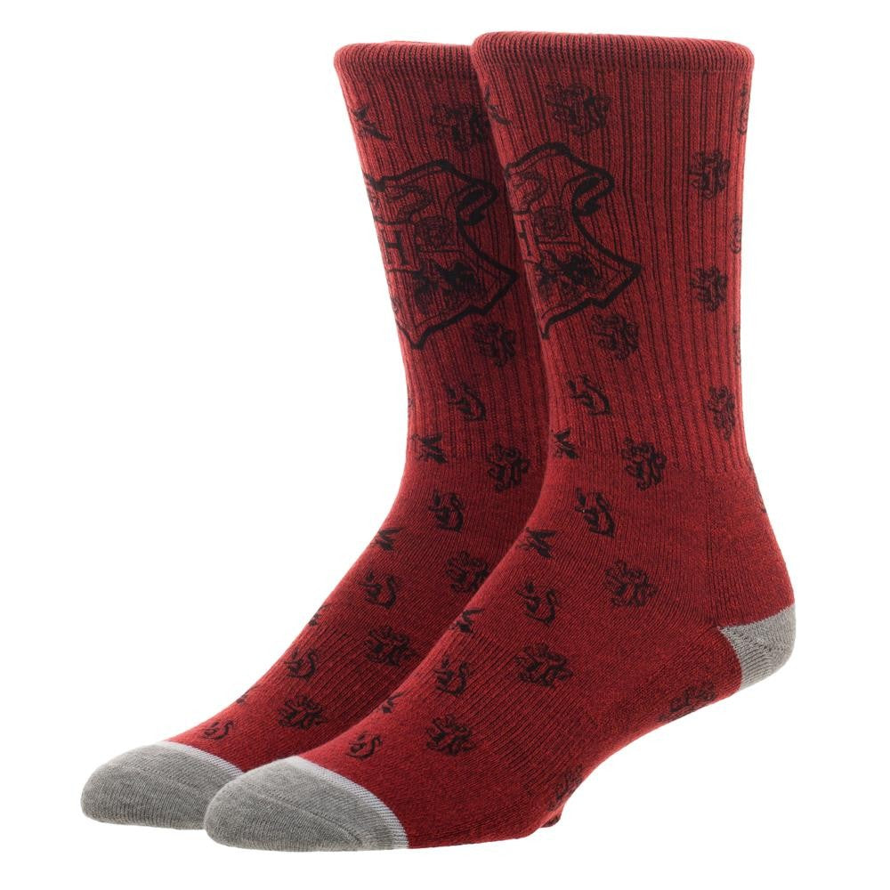 Harry Potter Hogwarts Waterprint Crew Sock