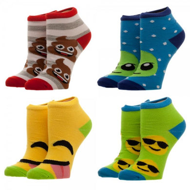 Emoji Youth Ankle Socks 4 Pack