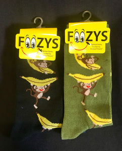 Monkey & Banana Socks