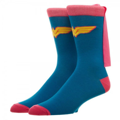 Wonder Woman Pink Cape Socks