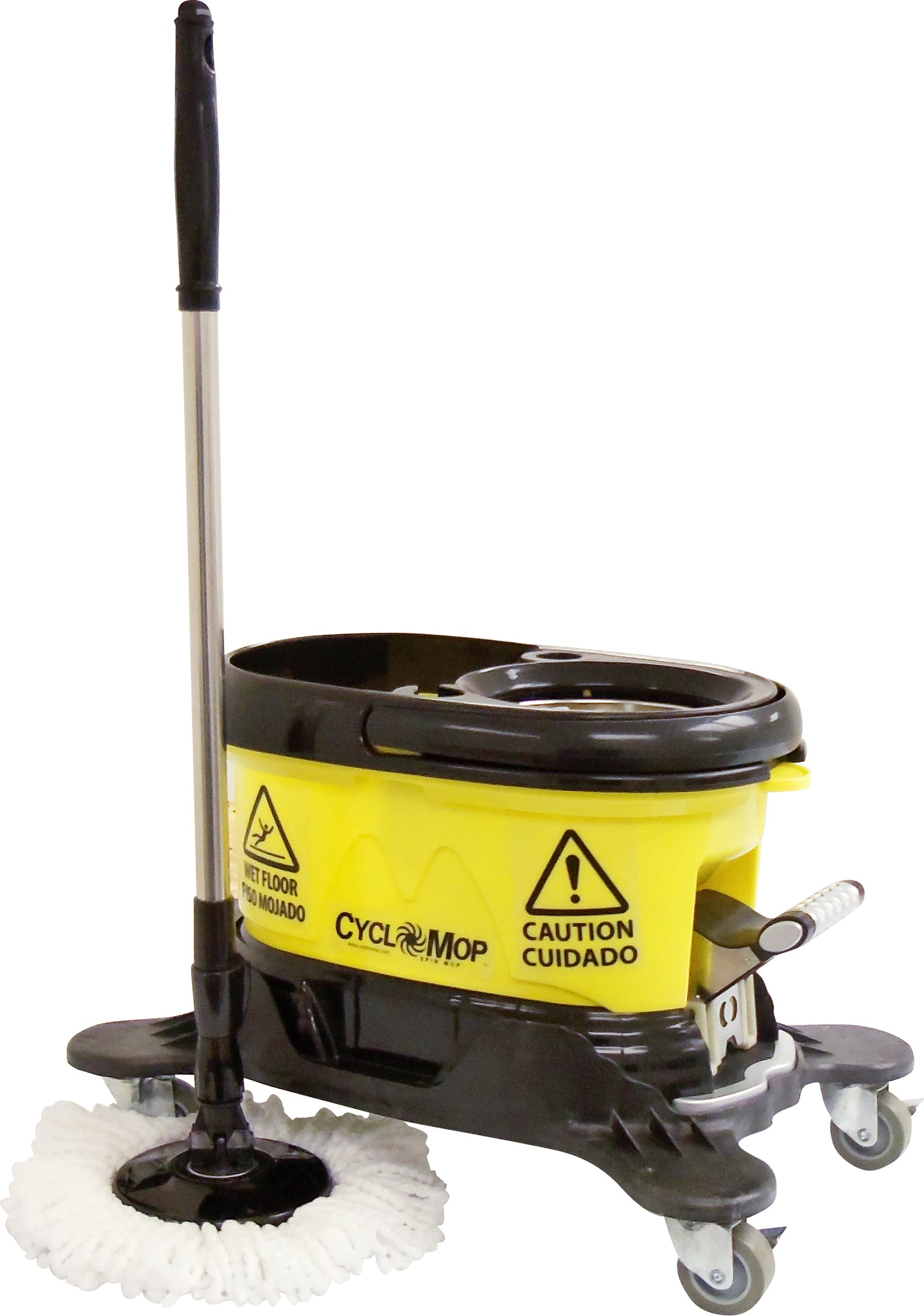 CYCLOMOP Commercial Spin Mop with Dolly Wheels