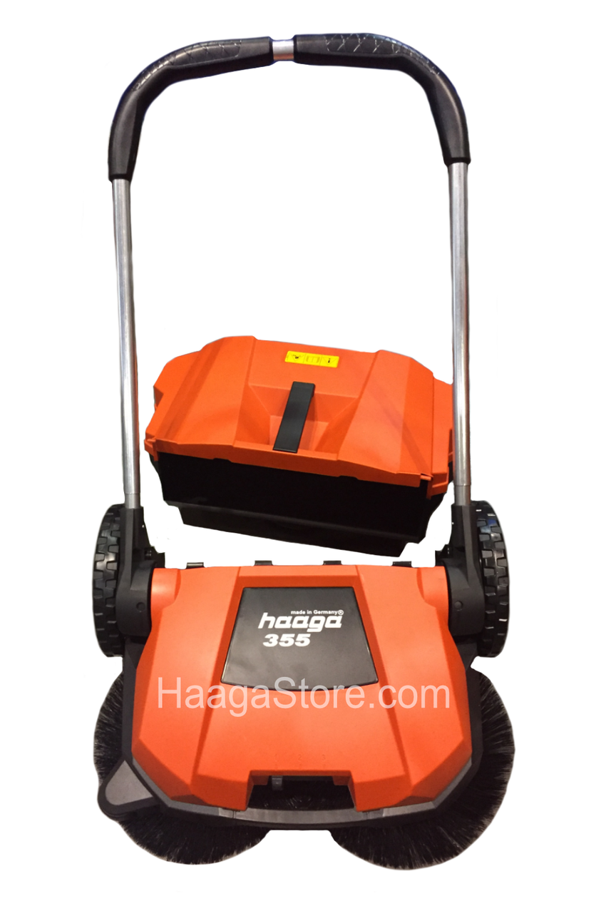 HAAGA 355 sweeper with the debris container removed