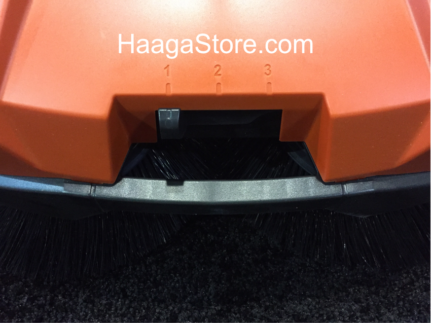 HAAGA 355 Sweeper has 3 height adjustments