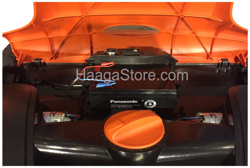 HAAGA 677 Sweeper battery compartment under front cover