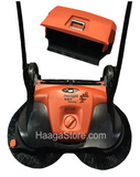 HAAGA 697 iSweep ACCU Sweeper with the debris container removed