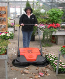 "HAAGA 677 iSweep ACCU Sweeper | 31"" Battery Powered Sweeper"