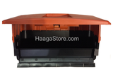 HAAGA 697 iSweep ACCU Sweeper debris container inside view