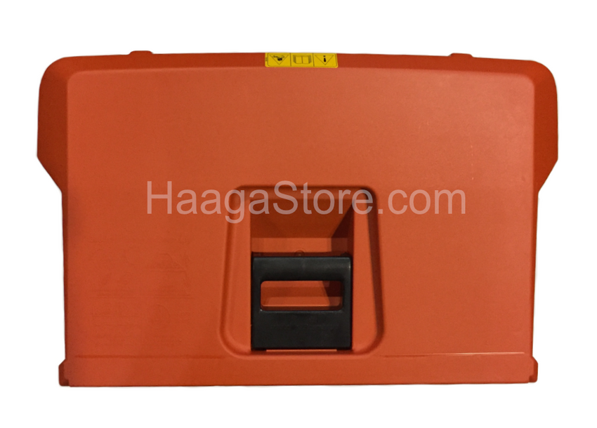 HAAGA 677 iSweep ACCU Sweeper debris cointainer handle top view