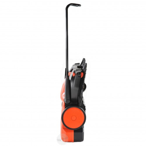HAAGA 677 Sweeper stands upright for easy storage
