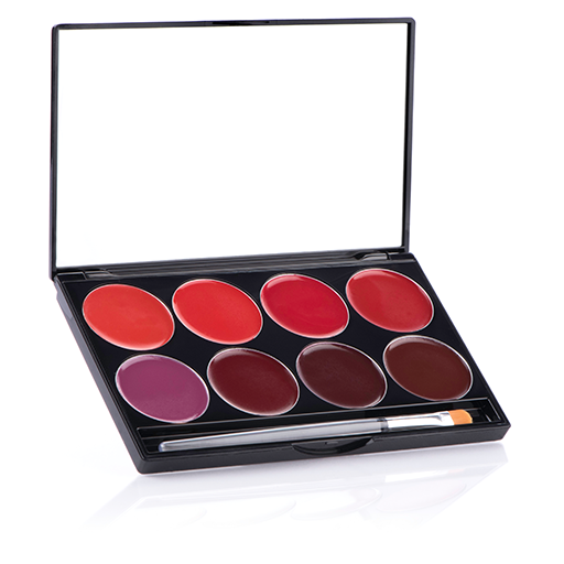 Mehron lip color palette 8 l.i.p color cream (night)