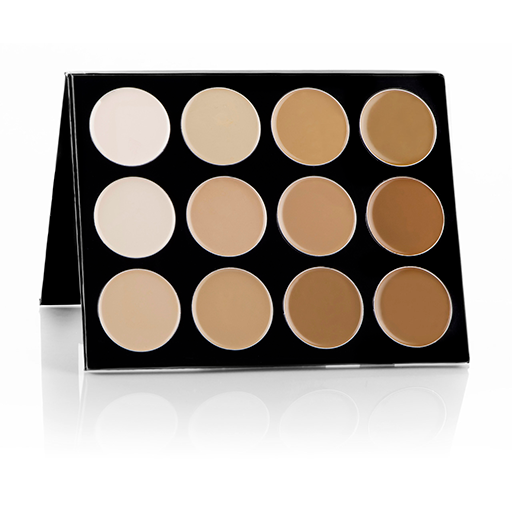 Mehron celebre pro hd-cream contour / highlight palette 12 shades