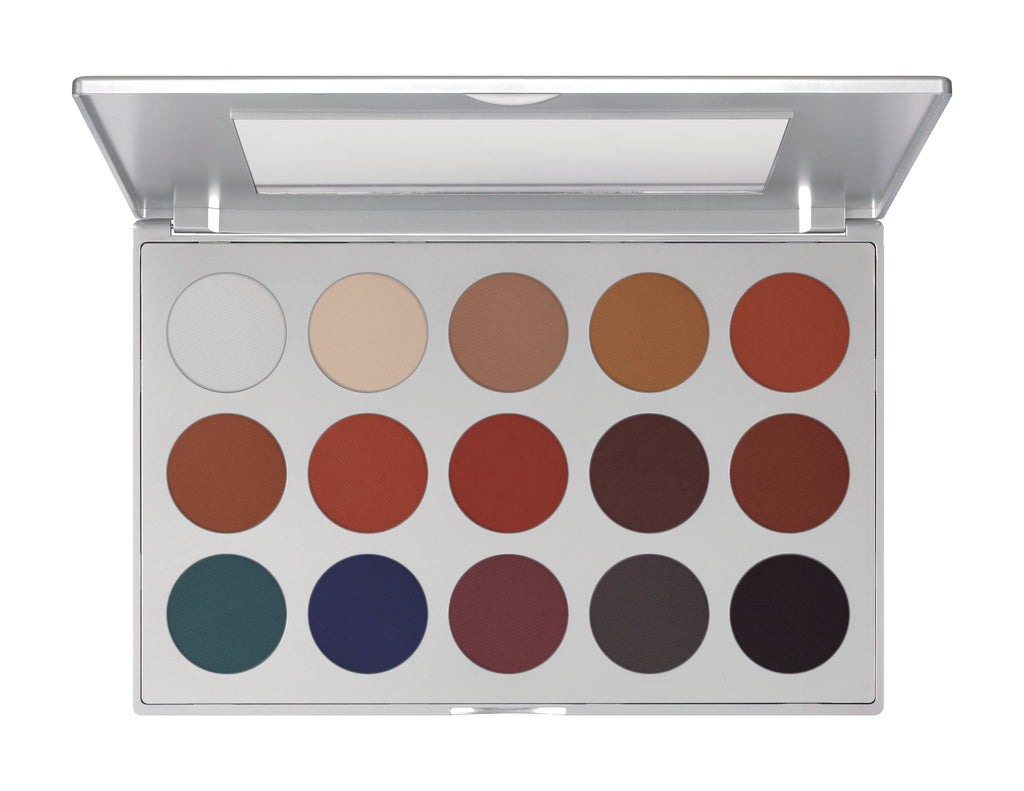 Kryolan Eye Shadow Professional Set 15 Colores TN01 (KESP151)
