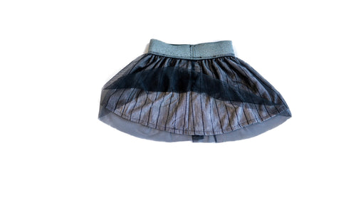 the black tulle skirt