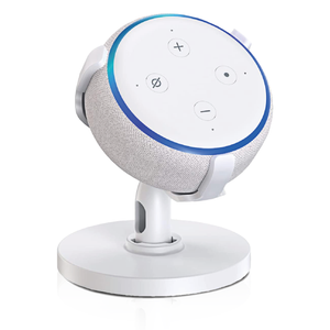 Sintron ST-E3-360 Table Holder - for Echo Dot 3rd Generation, 360° Adjustable Stand Bracket Mount, Space Saving Accessories, Without Messy Wires.