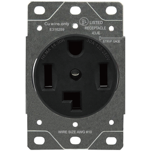 Sintron Heavy Duty Series - NEMA 14-30R Receptacle Outlet, For Clothes Dryers, Kitchen Range & EV Charging, 125/250 Volt 30A Current Rating, UL listed