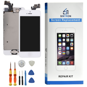 "Sintron ""Fully Assembled"" iPhone 5/5C/5S/6/6 Plus/6S/6S Plus/7/7 Plus/8/8 Plus White Replacement LCD & Touch Screen Digitizer .Works like Original ! - Sintron"