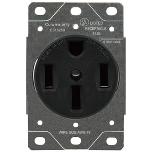 Sintron Heavy Duty Series - NEMA 14-50R Receptacle Outlet, For Clothes Dryers, Kitchen Range & EV Charging, 125/250 Volt 50A Current Rating, UL listed